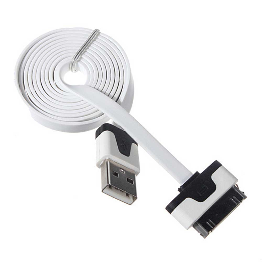iphone 4 charger cable for apple iphone 4 4s 4g flat noodle usb sync data 14378